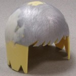 The Helmet was filled in and sanded where the wings were removed.