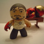 custom mighty muggs tony stark armor testing iron man 1 150x150