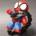 custom mighty muggs spider man vs venom diorama 1 150x150