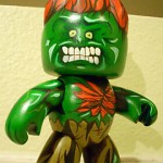 mighty muggs custom painted blanka from street fighter 150x150